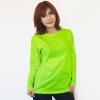 เสื้อยืดแขนยาวสีเขียวมะนาว ผ้าคอทตอน#32ไซส์XL