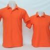 เสื้อโปโลชาย สีส้ม ไซส์/2XL/รอบอก44