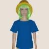 เสื้อยืดเด็กสีฟ้าทะเล ผ้าคอทตอน#32ไซส์S