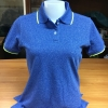 เสื้อโปโลหญิง สีน้ำเงินขอบเขียว ไซส์/S/รอบอก34นิ้ว