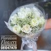 ช่อดอกกุหลาบขาว และยิปซี (M)