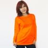 เสื้อยืดแขนยาวสีส้มสด ผ้าคอทตอน#32ไซส์M