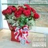 กล่องดอกไม้กุหลาบแดง (L)