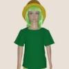 เสื้อยืดเด็กสีเขียวไมโล ผ้าคอทตอน#32ไซส์L