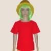 เสื้อยืดเด็กสีแดง ผ้าคอทตอน#32ไซส์M