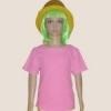 เสื้อยืดเด็กสีชมพูอ่อน ผ้าคอทตอน#32ไซส์L