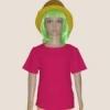 เสื้อยืดเด็กสีบานเย็น ผ้าคอทตอน#32ไซส์M