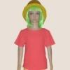 เสื้อยืดเด็กสีโอโรส ผ้าคอทตอน#32ไซส์L
