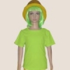 เสื้อยืดเด็กสีเขียวมะนาว ผ้าคอทตอน#32ไซส์S
