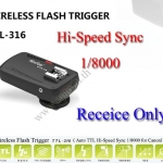 TTL-316 Wireless Flash Trigger Hi-Sync for Canon Receive Only ตัวสั่งงานแฟลชไร้สายตัวรับ