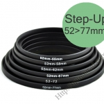 Step Up Filter Ring Adapter 52 to 77 (52mm-77mm)