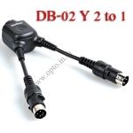 DB-02 Y Cable 2 to 1 For Godox AD180 AD360 Flash สายพ่วงเพิ่มความเร็วในการชาร์จ