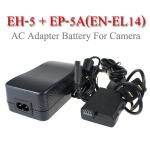 EH-5 + EP-5A AC Adapter Battery EN-EL14 for Nikon Camera D5500 D5300 D3300 แบตเตอรี่แบบเสียบปลั๊กไฟ