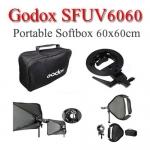 Godox SFUV6060 S-Type DSLR speedlite Flash Bracket With SoftBox 60x60cm ซอฟท์บ๊อกซ์แฟลชหัวค้อน