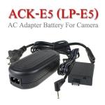 ACK-E5 AC Adapter Battery LP-E5 for Canon Camera 450D 500D 1000D แบตเตอรี่แบบเสียบปลั๊กไฟา