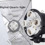 G804A Digital Day light Lamp E27 Bulb x4 Holder With Softbox 60x60cm