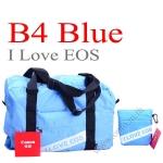 B4 Blue I Love EOS Bag Gift for Canon camera กระเป๋าใส่ของแคนนอนเป็นถุงผ้าจุของได้เยอะ
