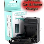 Home + CarBattery Charger For Sony NP-FM500