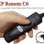 XP C6 สายลั่นชัตเตอร์ รีโมท Wired Remote For Canon 750D 760D 70D 650D 550D 450D