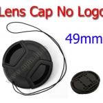 49mm. ฝาปิดหน้าเลนส์ไม่มีโลโก้สำหรับกล้อง Canon Nikon Sony Sigma Tamron