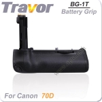 Travor แบตเตอรี่กริ๊ป BG-1T Battery Grip for Canon BG-E14 80D 70D