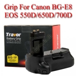 Travor แบตเตอรี่กริ๊ป BG-1F Battery Grip for Canon BG-E8 550D/600D/650D/700D