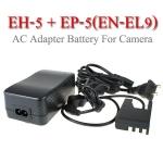EH-5 + EP-5 AC Adapter Battery EN-EL9 for Nikon Camera D40 D60 D3000 D5000แบตเตอรี่แบบเสียบปลั๊กไฟ
