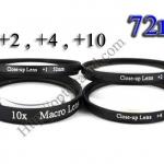 Macro Lens +1,+2,+4,+10 (Close-up Lens) 72mm