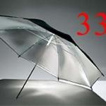 Godox Silver inside black outside Reflector Umbrella 84cm (33Inch)