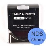 TIANYA Neutral Density ND 8 ND8 Filter 72mm.