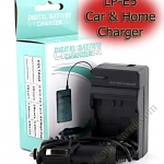 Home + CarBattery Charger For Canon LP-E5