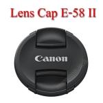 E-58 II Lens Cap Canon Logo 58mm. ฝาปิดหน้าเลนส์แคนน่อน