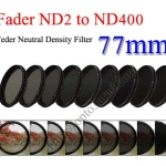 Fader Neutral Density ND2 to ND400 Filter 77mm.