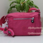 Kipling Wes Vibrant Pink กระเป๋าสะพายใบเล็ก ค่อนไปกลางๆ ขนาด L9 x H 6.25 W 5.5 นิ้ว