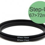 Step Up Filter Ring Adapter 67 to 72 (67mm-72mm)