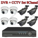 Set8 Channal DVR CCTVx8 IR Camera warter Proof