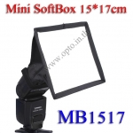 MB1517 MiniBox Portable softbox for Speedlite(Universal type) 15*17cm
