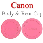 Pink Color Body Rear Lens Cap For Canon ฝาปิดบอดี้และฝาปิดท้ายเลนส์แคนนอนสีชมพู