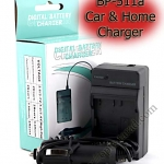 Home + Car Battery Charger For Canon BP-511/BP-511a