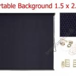 ฉากผ้าแบบติดผนังสีดำ 150x200cm. มาพร้อมขายึด+โซ่ม้วนผ้า(สามารถใช้งานได้ทันที)