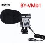 BY-VM01 Boya Mini Microphone For DSLR Camera DV Camcorder ไมค์ติดหัวกล้องสำหรับกล้องDSLR