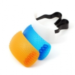Pop-up Flash Diffuser (white/orange/blue domes)