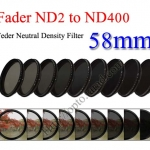 Fader Neutral Density ND2 to ND400 Filter 58mm.