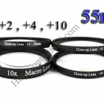 Macro Lens +1,+2,+4,+10 (Close-up Lens) 55mm