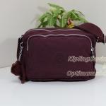Kipling Reth Crimson กระเป๋าสะพาย หลายช่องซิป จุมาก น่าใช้ ขนาด 27 L x 17.5 H x 15 W cm สำเนา