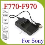 USB F770/F970/F570 BatteryChargerแท่นชาร์จสำหรับแบตเตอรี่Sony F570 F770 F970ไฟLED YN300 YN600 YN900