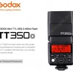 TT350O Flash Godox For Olympus DSLR and Mirroless TTL HSS Wireless Trigger 2.4Ghz Flash แฟลชหัวค้อน