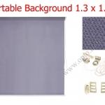 ฉากผ้าแบบติดผนังสีเทาดำ 130x180cm. มาพร้อมขายึด+โซ่ม้วนผ้า(สามารถใช้งานได้ทันที)