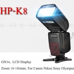 Flash HP-K8 Speedlight Wireless Light control + SoftBox for Canon Nikon Sony Olympus