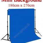 Mini Blue Background Backdrop 180x270cm. Cotton for Chromakey ฉากถ่ายรูปภาพ
